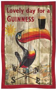 Guinness Toucan Weather Vane Cotton Tea Towel  700mm x 450mm  (sg)